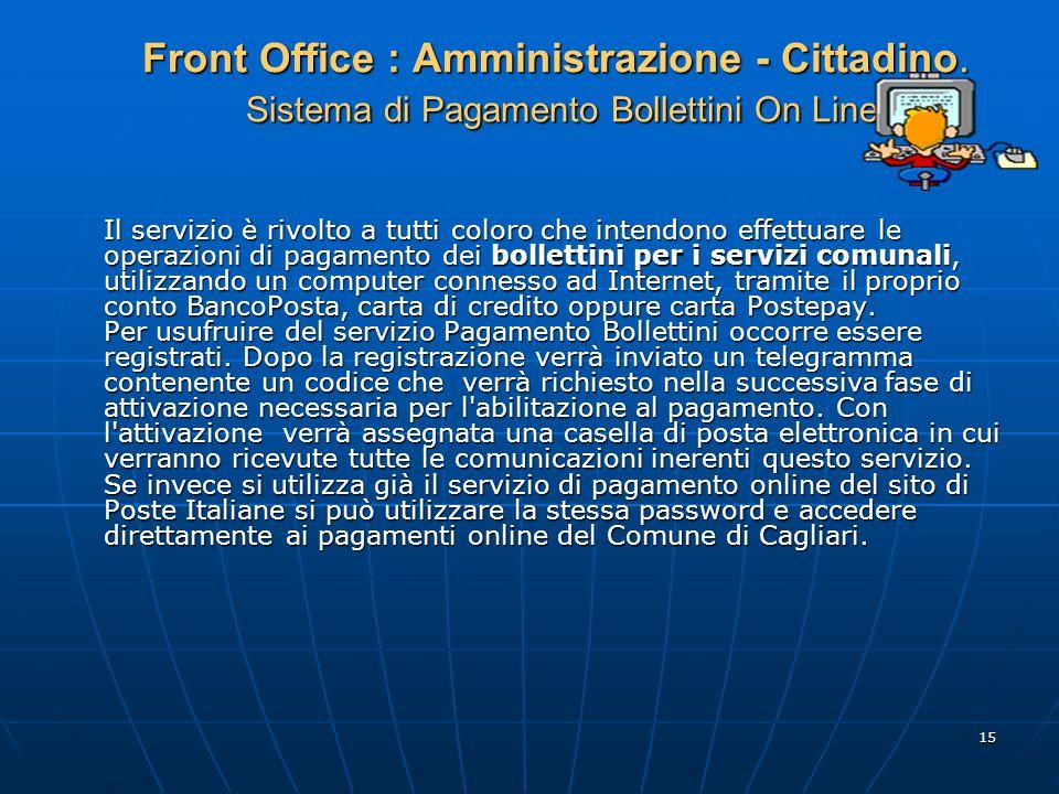 Front Office : Amministrazione - Cittadino