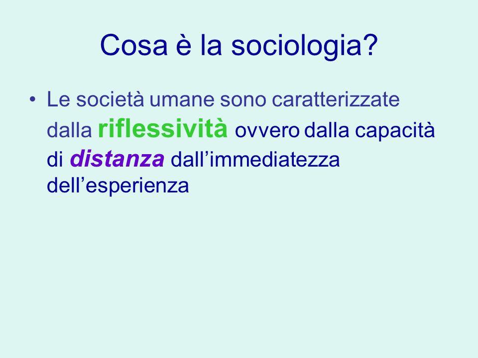 Cosa è la sociologia.