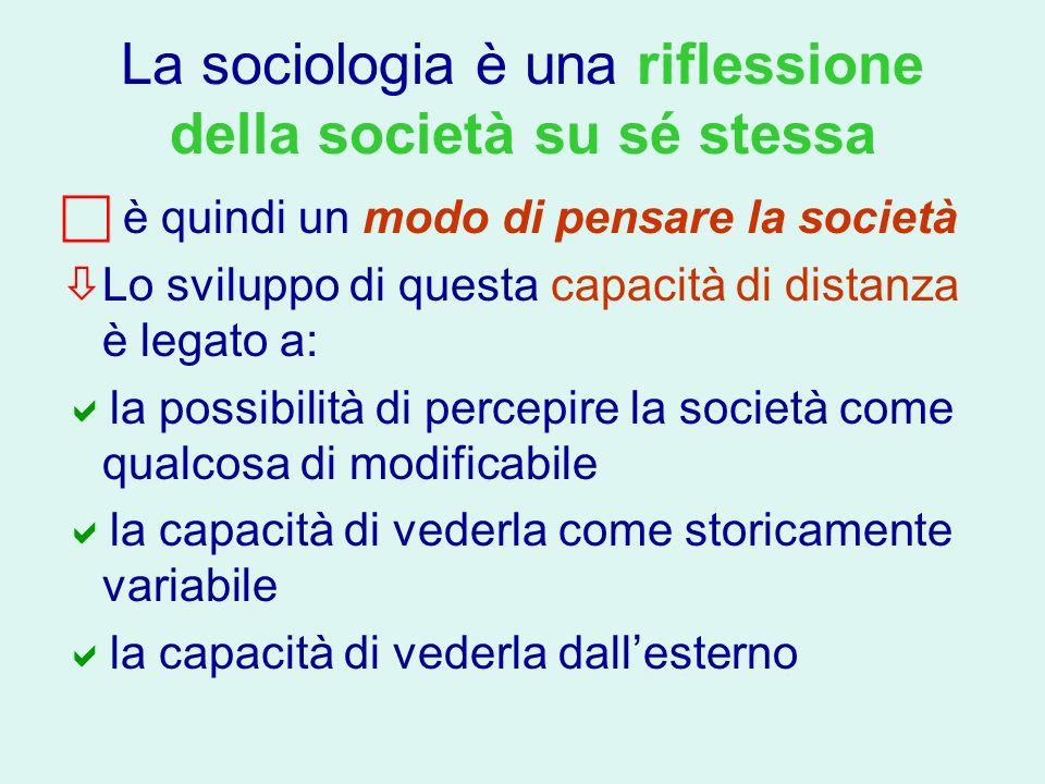 La sociologia è una riflessione della società su sé stessa