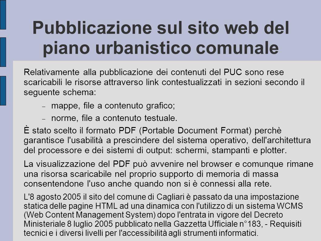 Pubblicazione sul sito web del piano urbanistico comunale