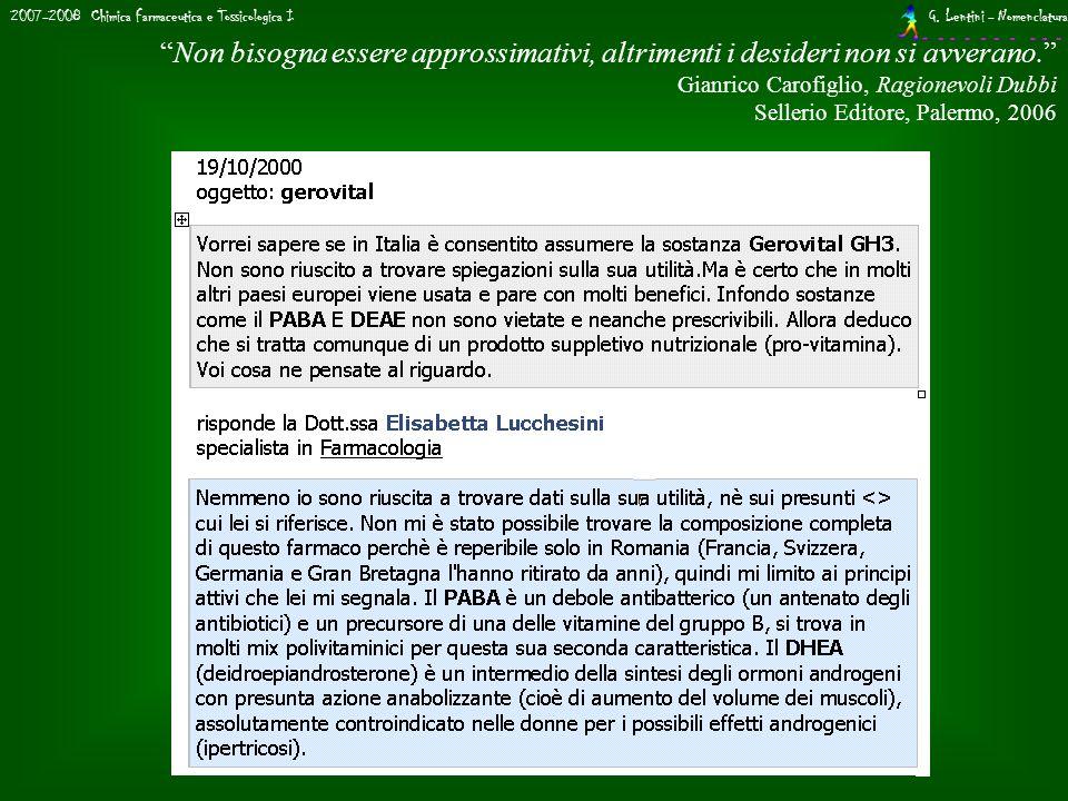 2007-2008 Chimica Farmaceutica e Tossicologica I G