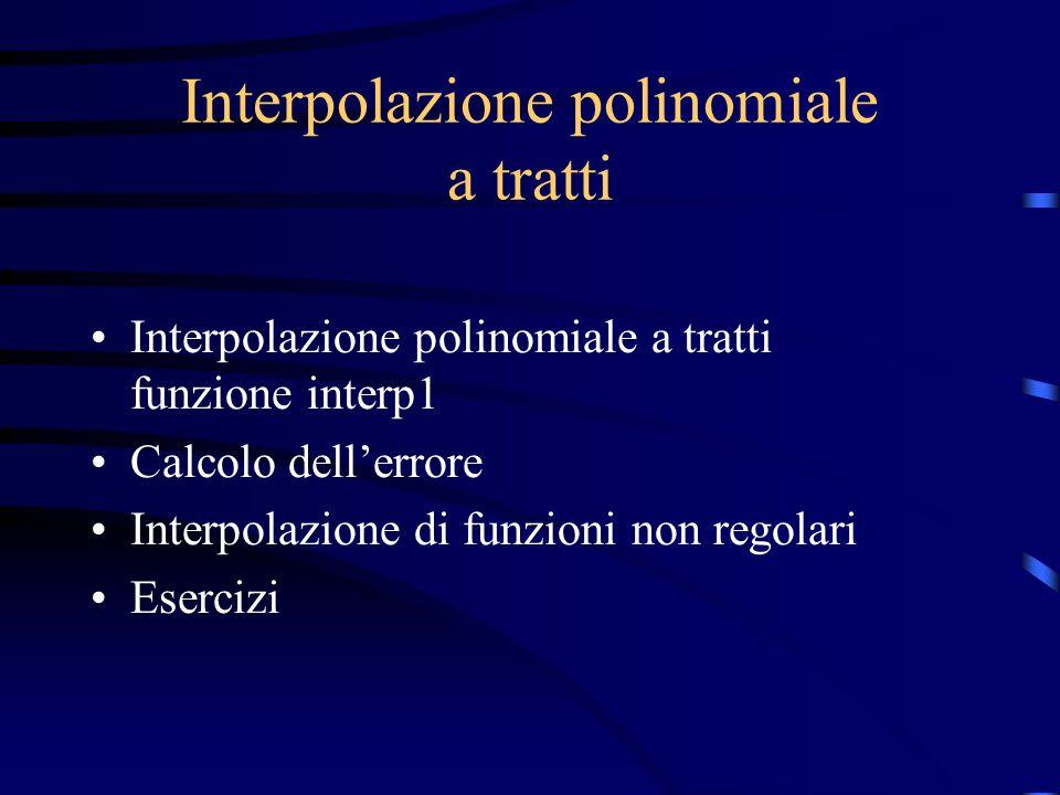 Interpolazione polinomiale a tratti