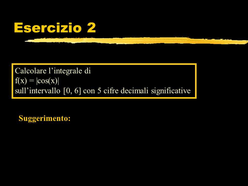 Esercizio 2 Calcolare l'integrale di f(x) = |cos(x)|