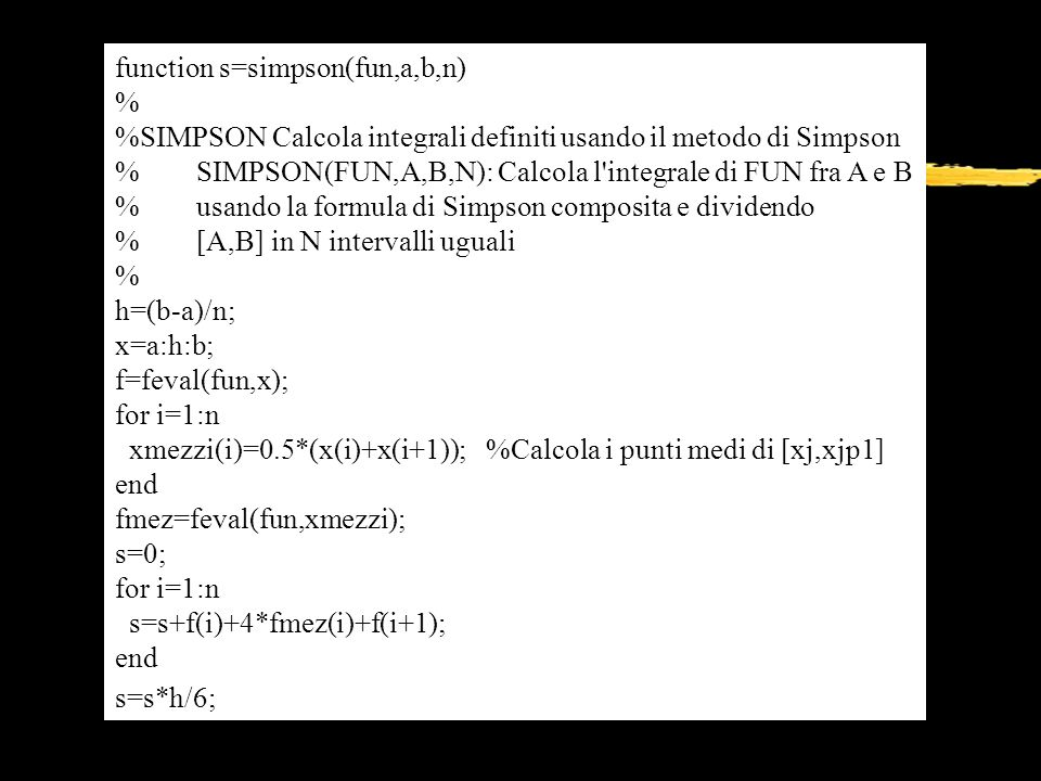 function s=simpson(fun,a,b,n)