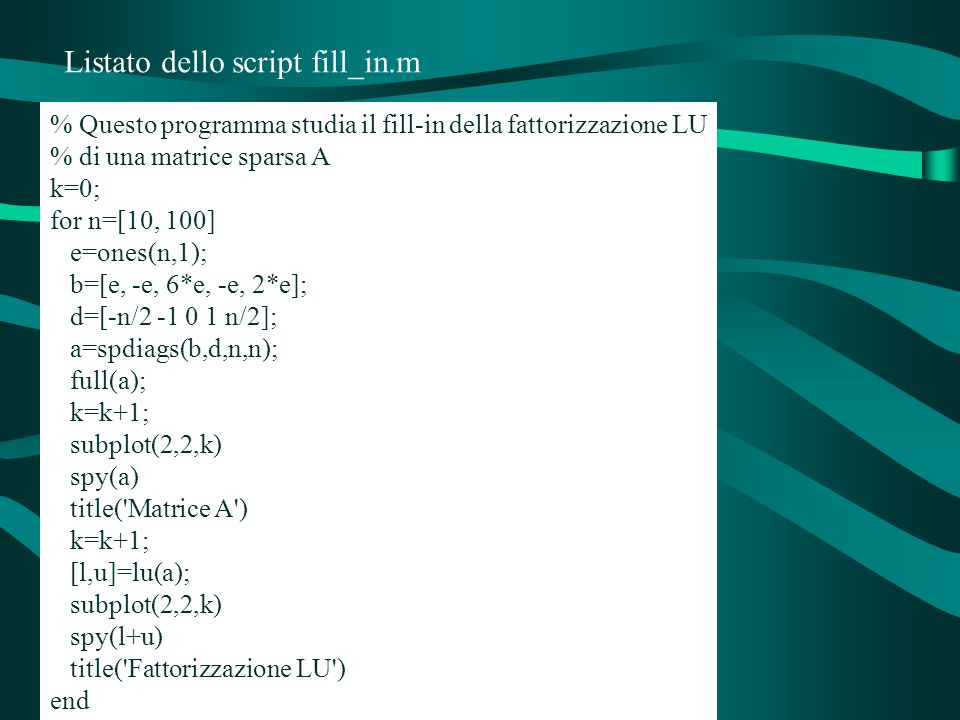 Listato dello script fill_in.m