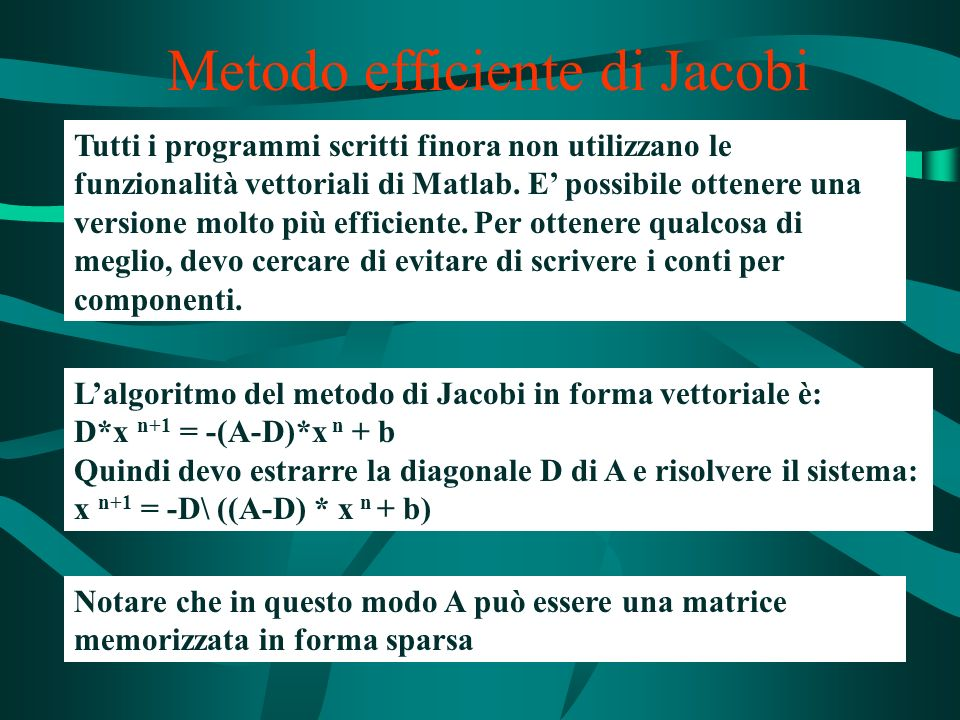 Metodo efficiente di Jacobi