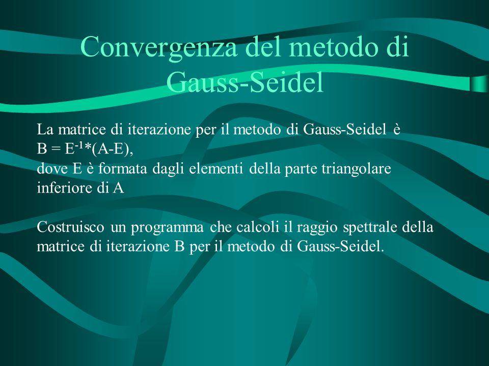 Convergenza del metodo di Gauss-Seidel