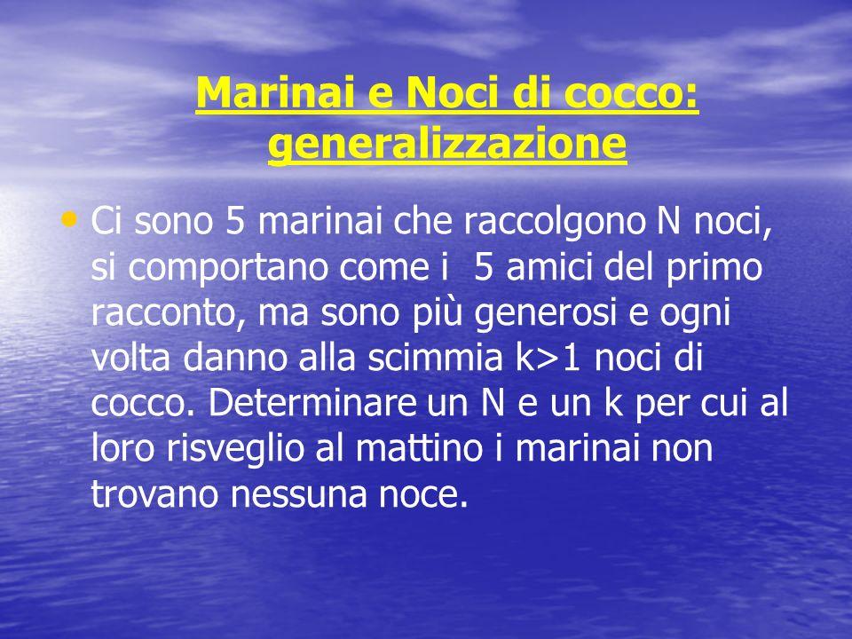 Marinai e Noci di cocco: generalizzazione