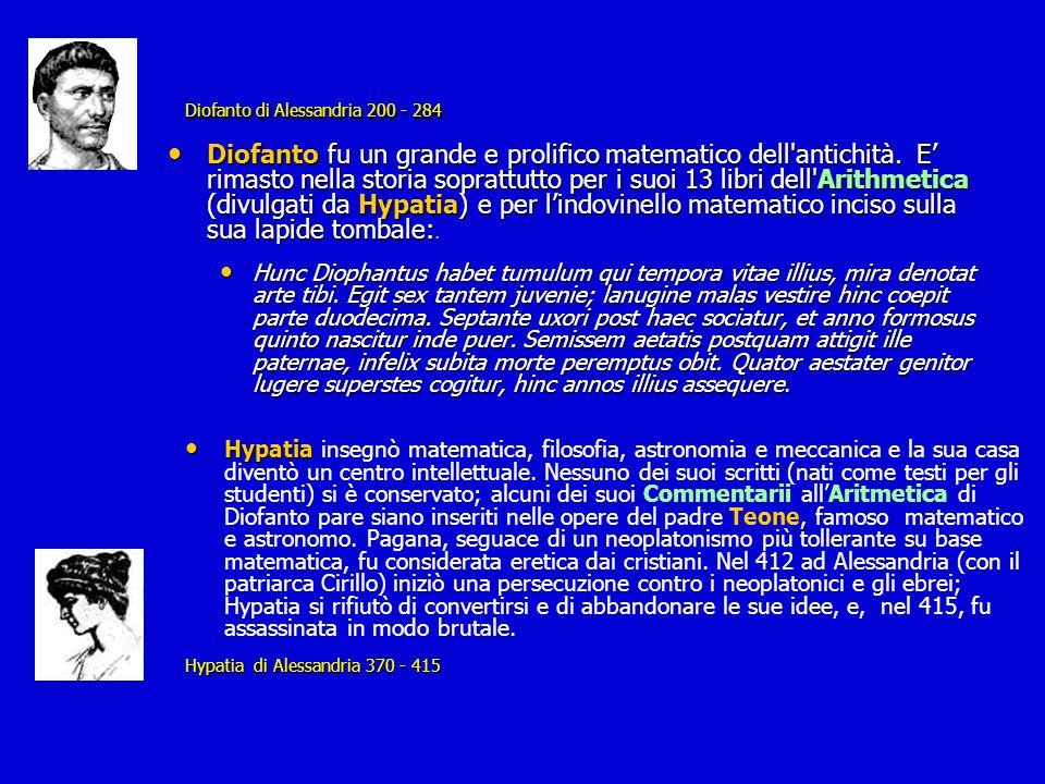 Diofanto di Alessandria 200 - 284