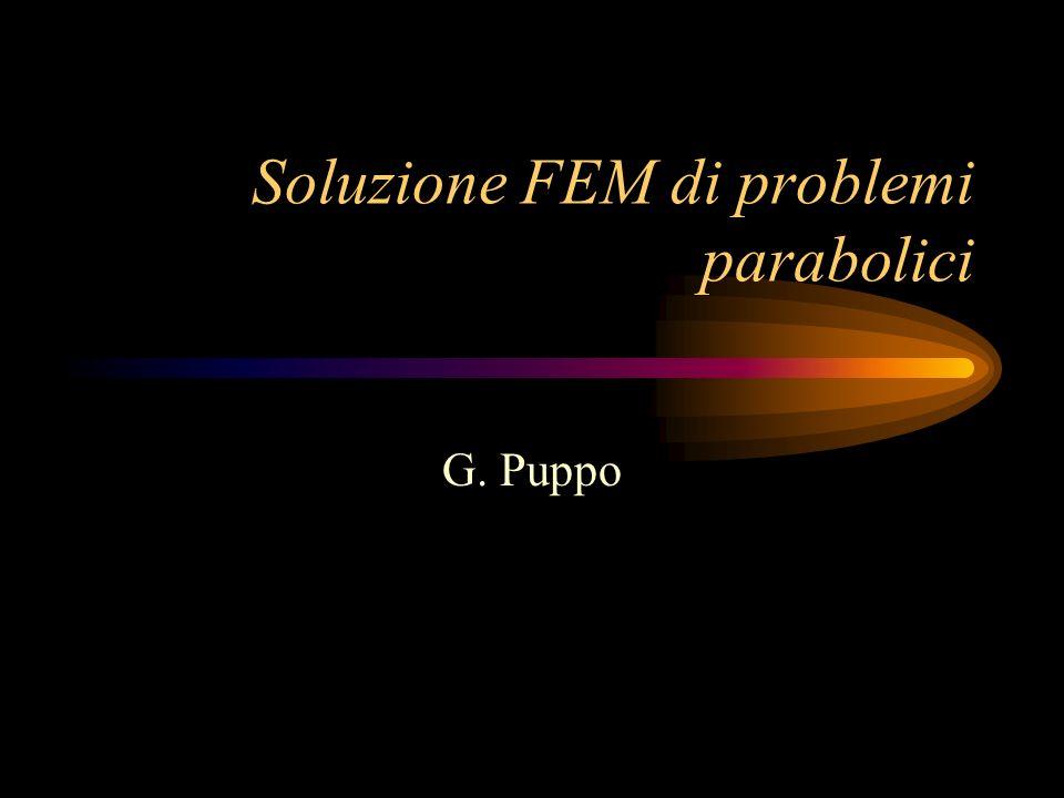 Soluzione FEM di problemi parabolici