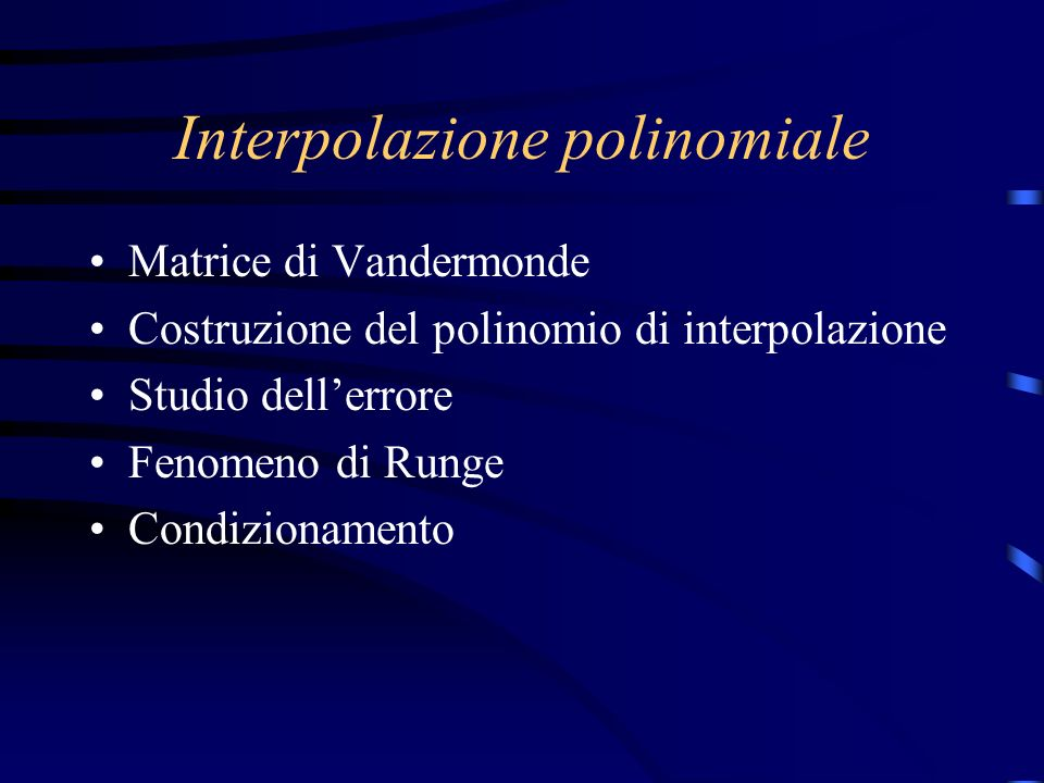 Interpolazione polinomiale