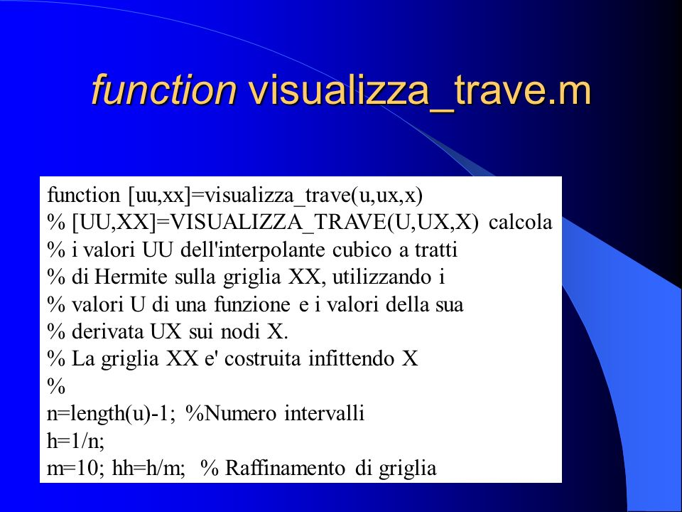 function visualizza_trave.m