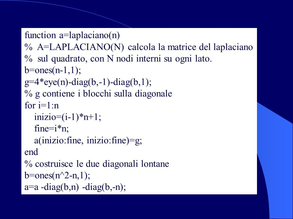 function a=laplaciano(n)