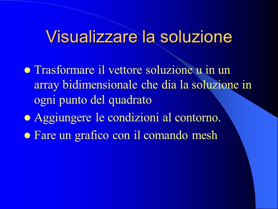 Visualizzare la soluzione