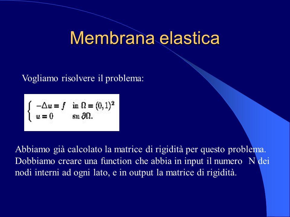 Membrana elastica Vogliamo risolvere il problema: