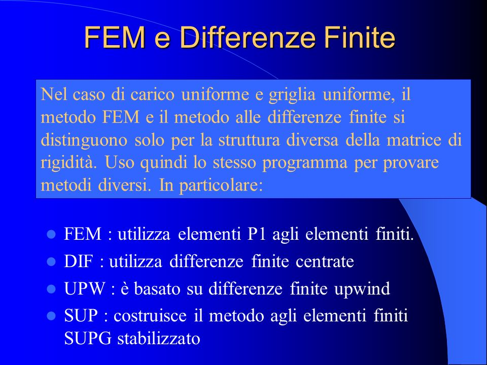 FEM e Differenze Finite