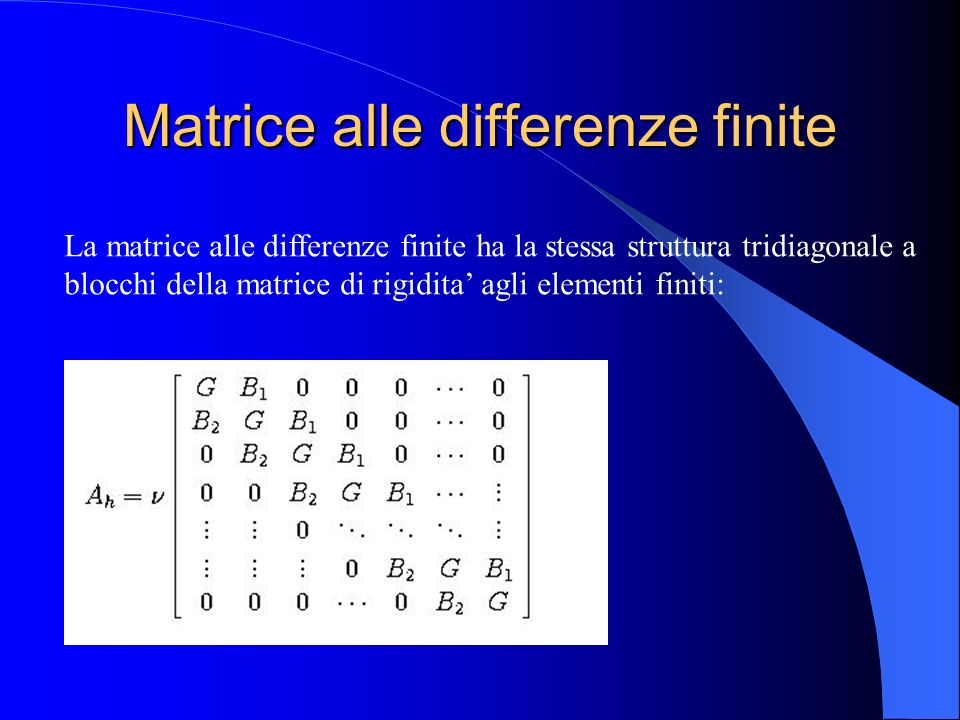Matrice alle differenze finite