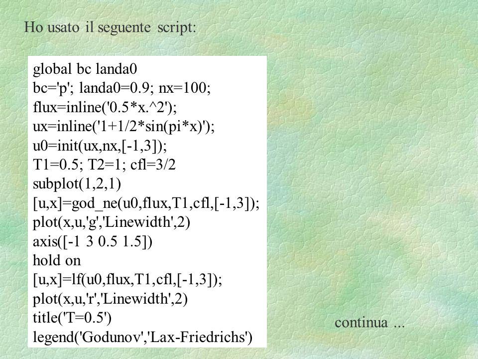 Ho usato il seguente script: