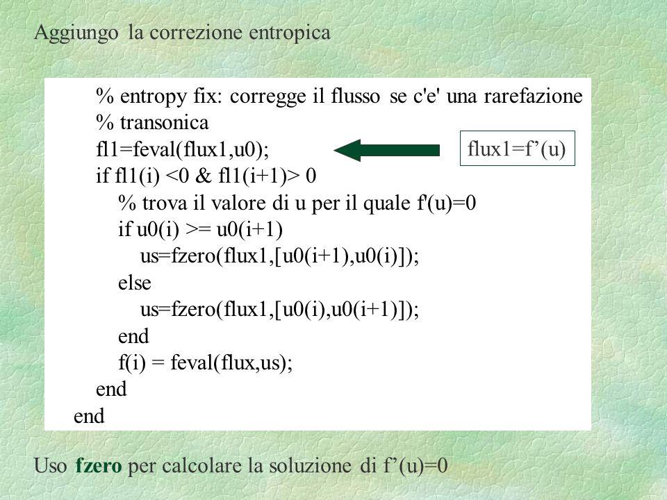 Aggiungo la correzione entropica