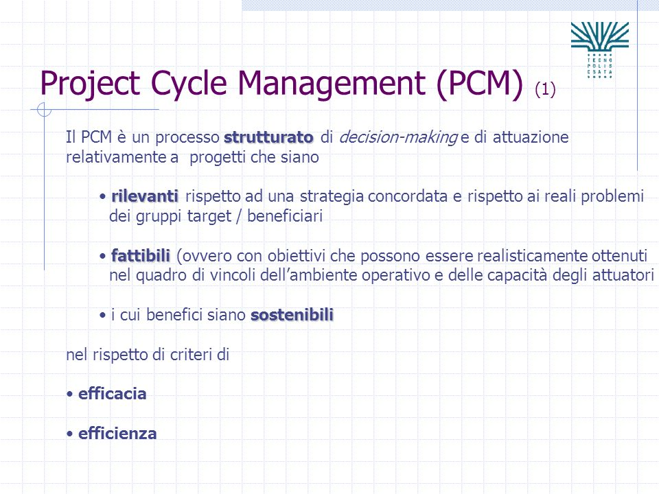 Project Cycle Management (PCM) (1)