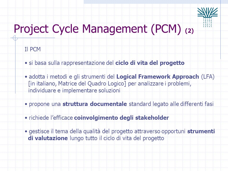 Project Cycle Management (PCM) (2)