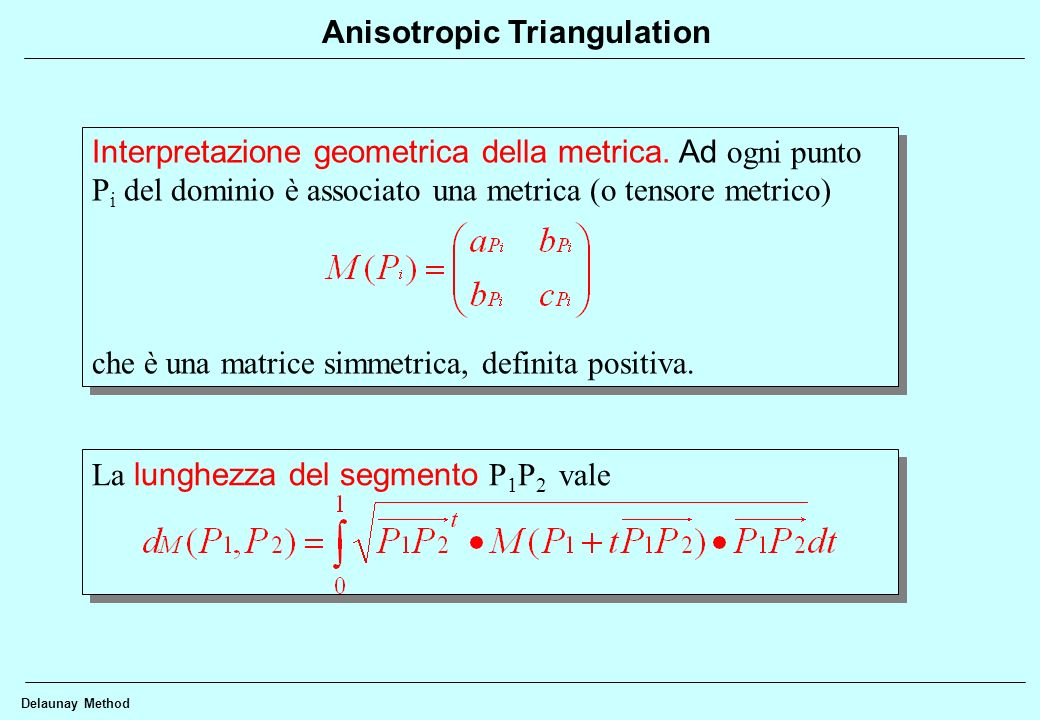 Anisotropic Triangulation