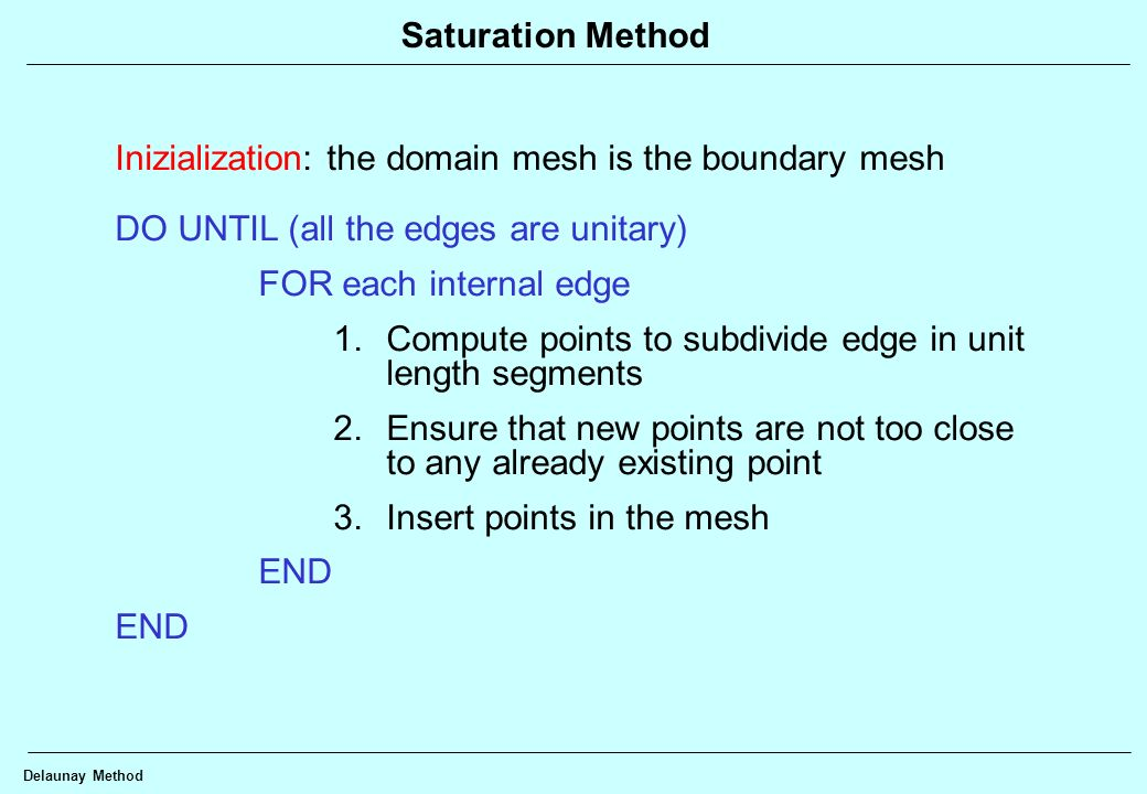 Inizialization: the domain mesh is the boundary mesh