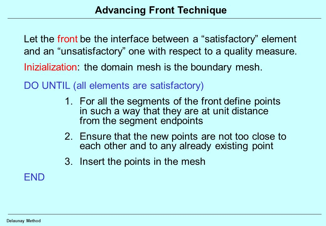 Advancing Front Technique