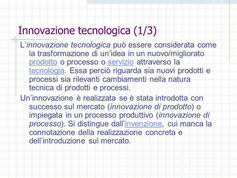 Innovazione tecnologica (1/3)