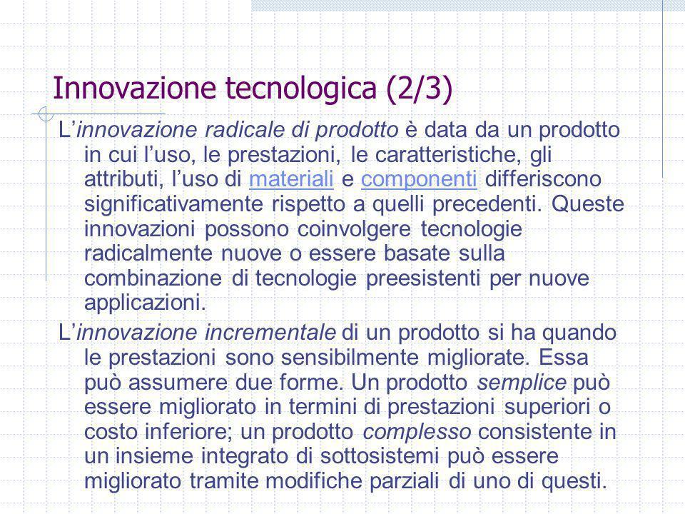 Innovazione tecnologica (2/3)