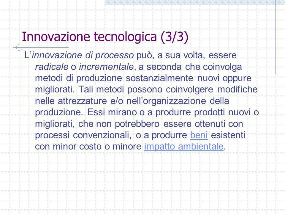 Innovazione tecnologica (3/3)