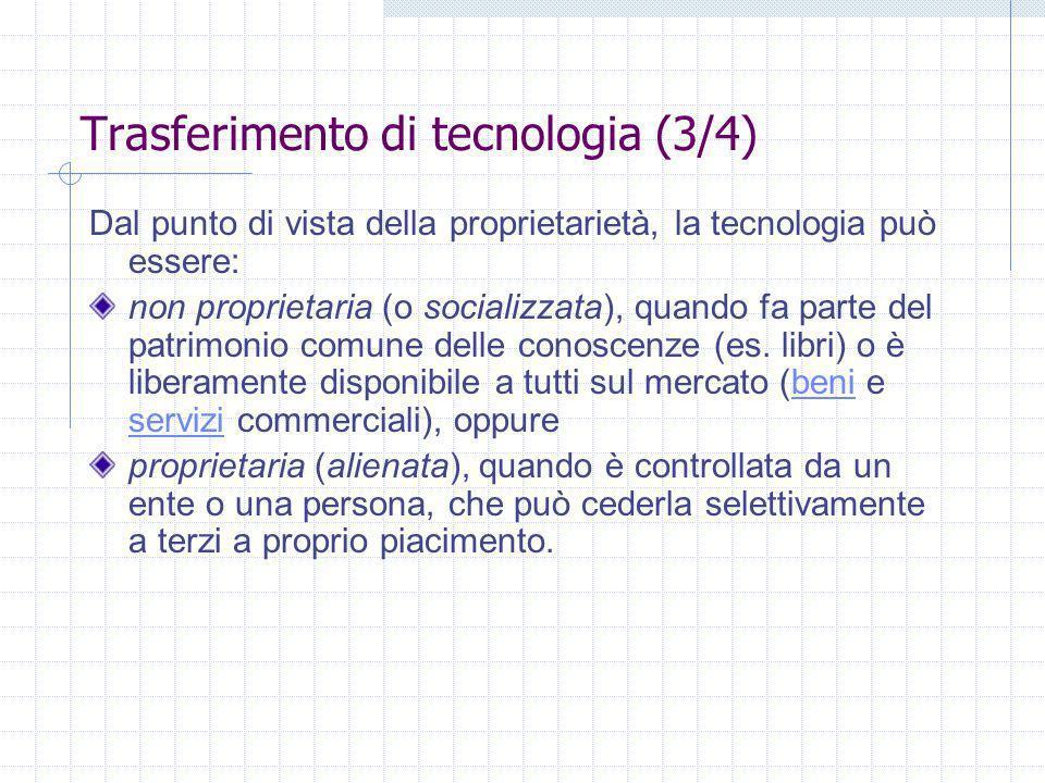 Trasferimento di tecnologia (3/4)