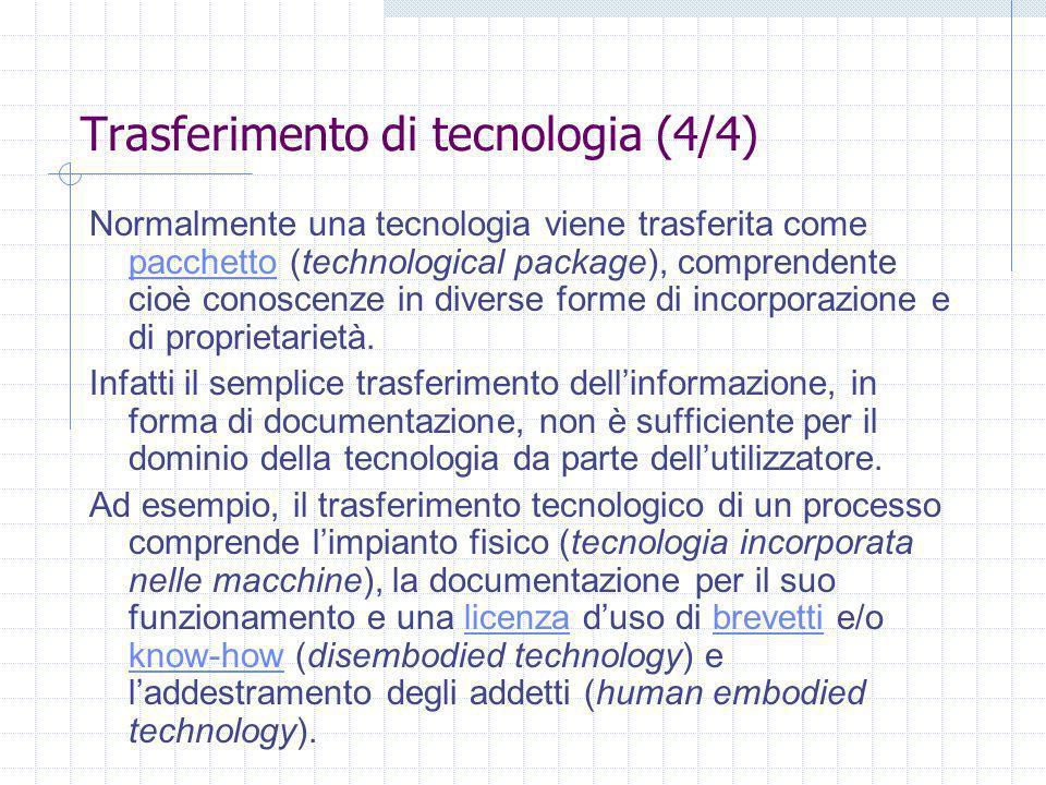 Trasferimento di tecnologia (4/4)