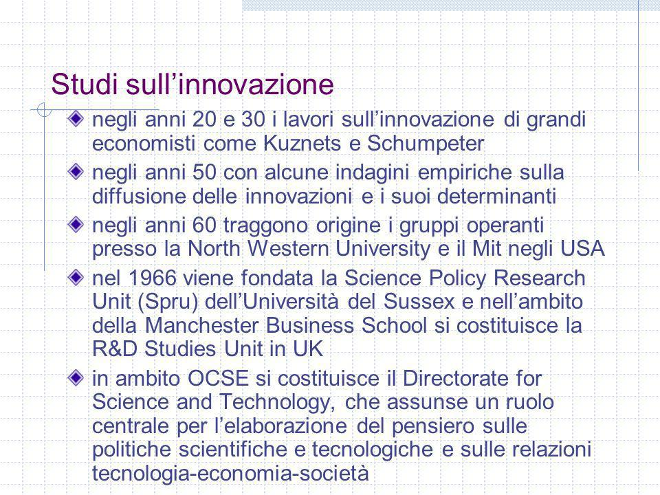 Studi sull'innovazione