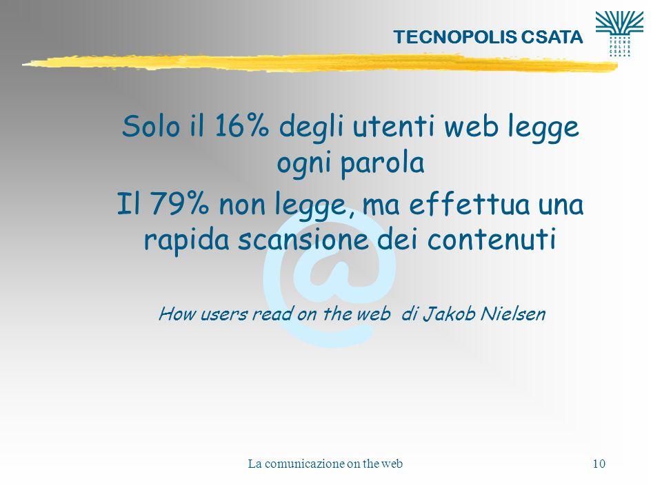 Solo il 16% degli utenti web legge ogni parola