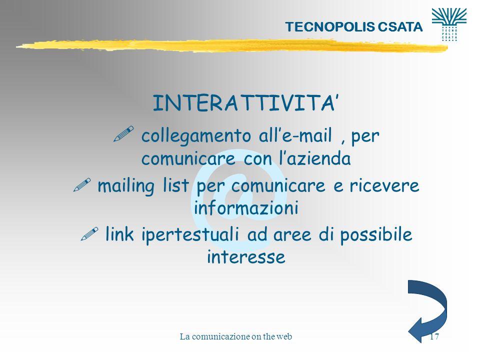 collegamento all'e-mail , per comunicare con l'azienda
