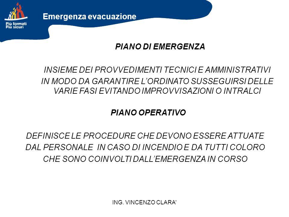 PIANO DI EMERGENZA PIANO OPERATIVO