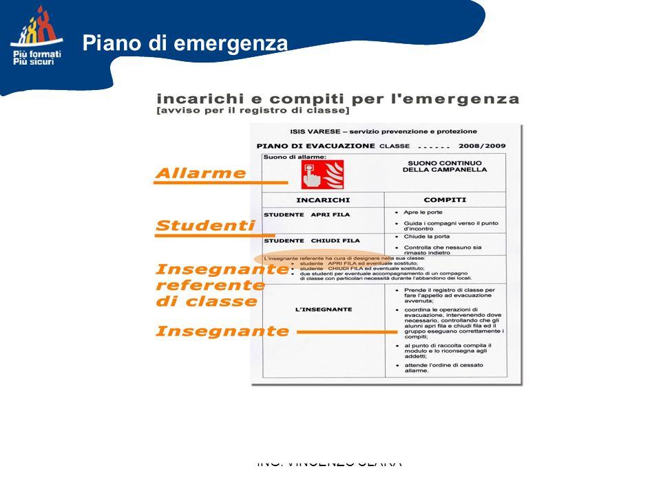 Piano di emergenza ING. VINCENZO CLARA 48