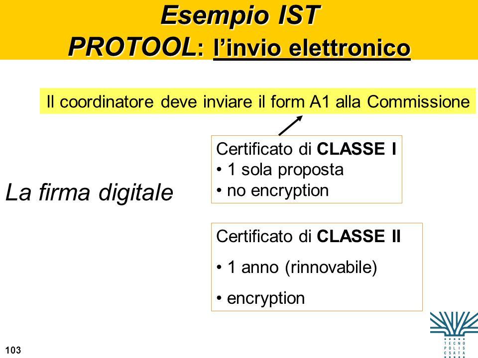 Esempio IST PROTOOL: l'invio elettronico