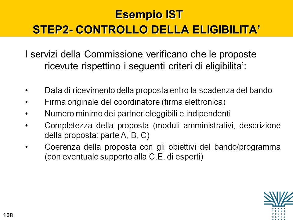 Esempio IST STEP2- CONTROLLO DELLA ELIGIBILITA'
