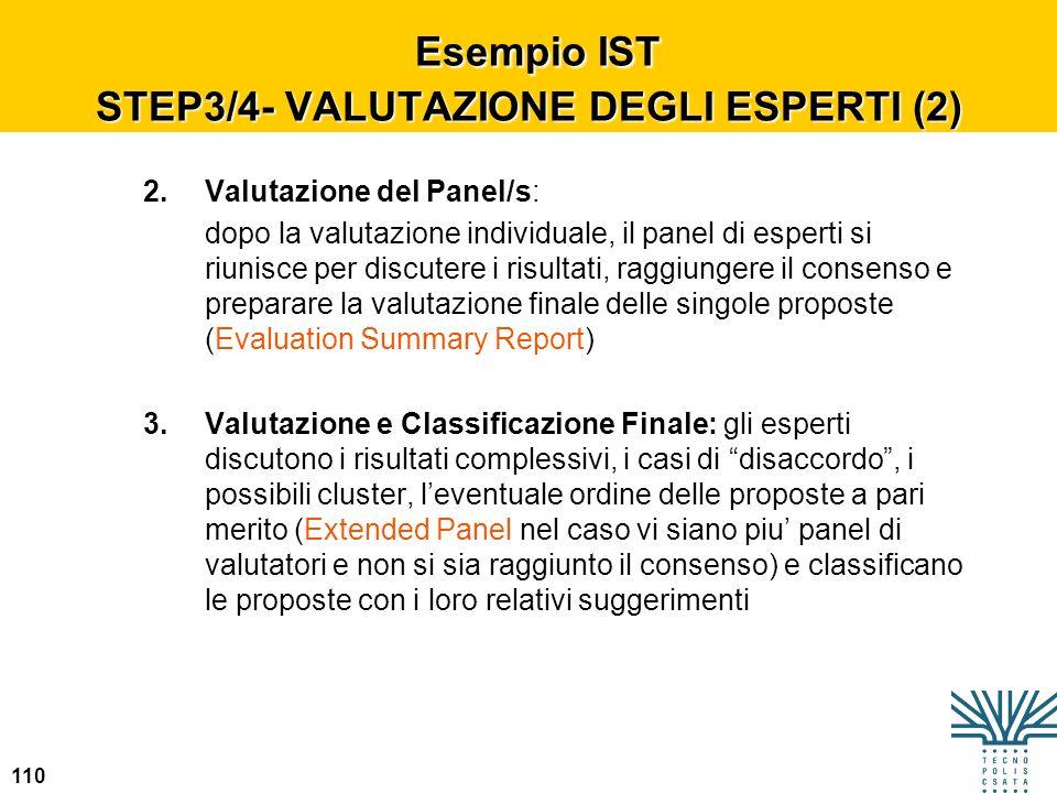 Esempio IST STEP3/4- VALUTAZIONE DEGLI ESPERTI (2)
