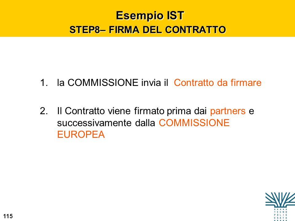 Esempio IST STEP8– FIRMA DEL CONTRATTO