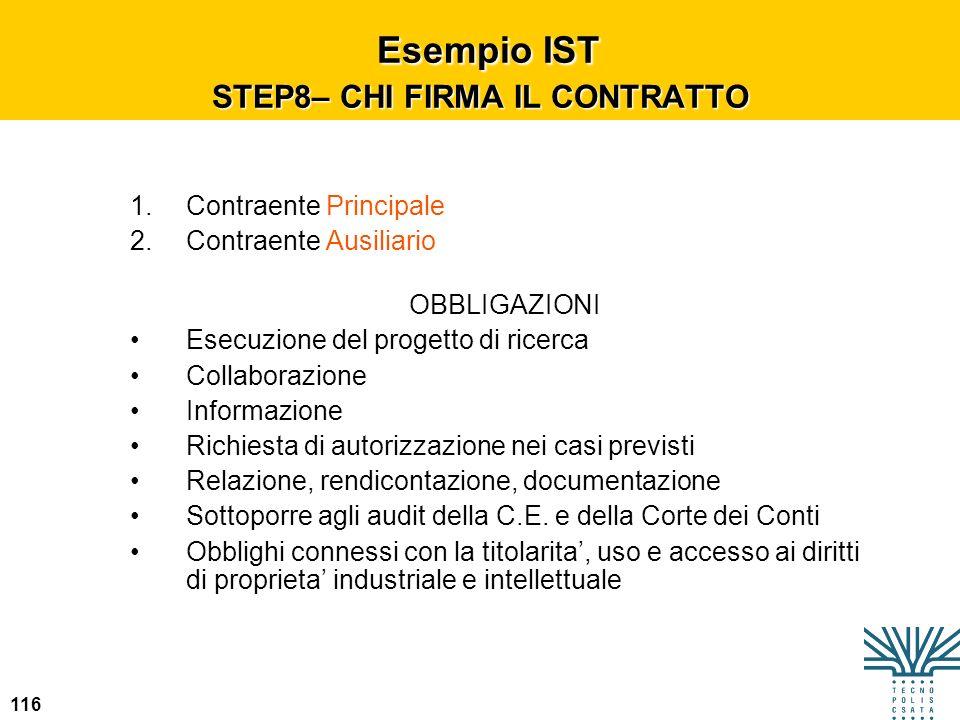 Esempio IST STEP8– CHI FIRMA IL CONTRATTO