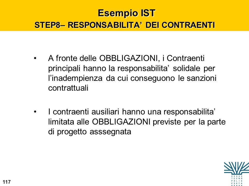 Esempio IST STEP8– RESPONSABILITA' DEI CONTRAENTI