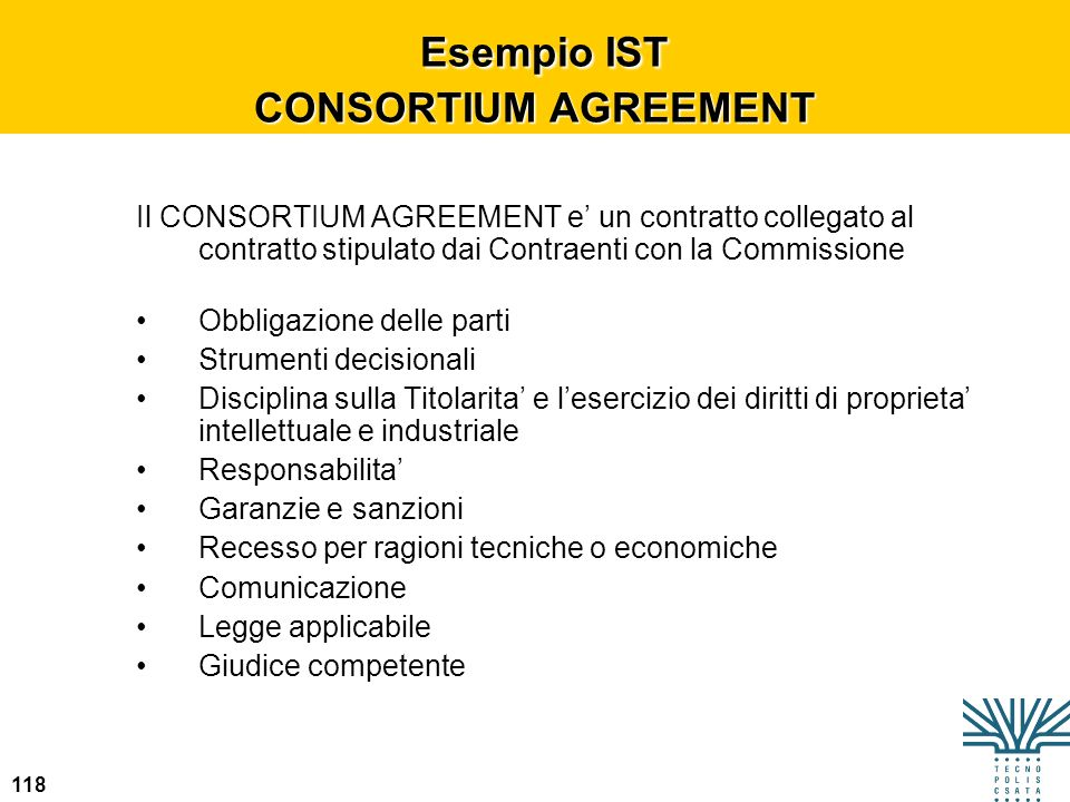 Esempio IST CONSORTIUM AGREEMENT