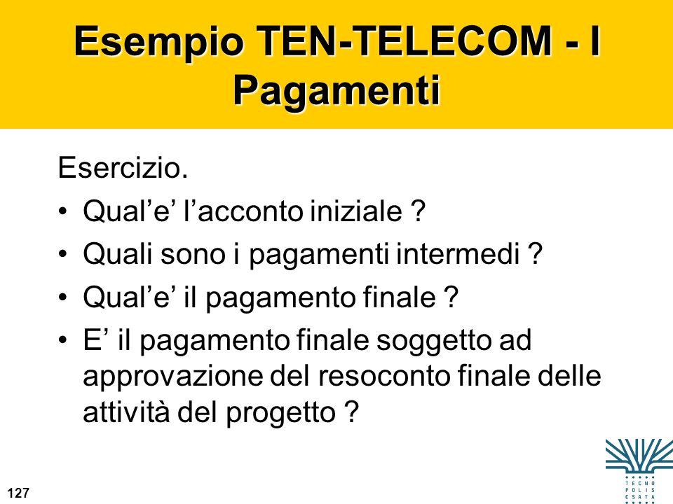 Esempio TEN-TELECOM - I Pagamenti