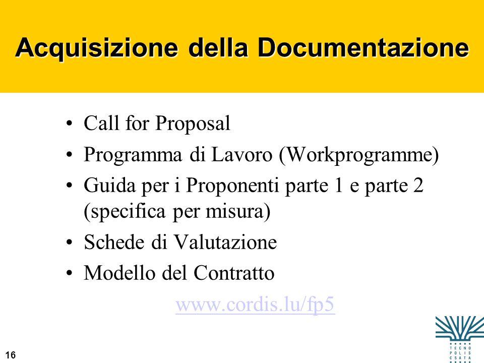 Acquisizione della Documentazione