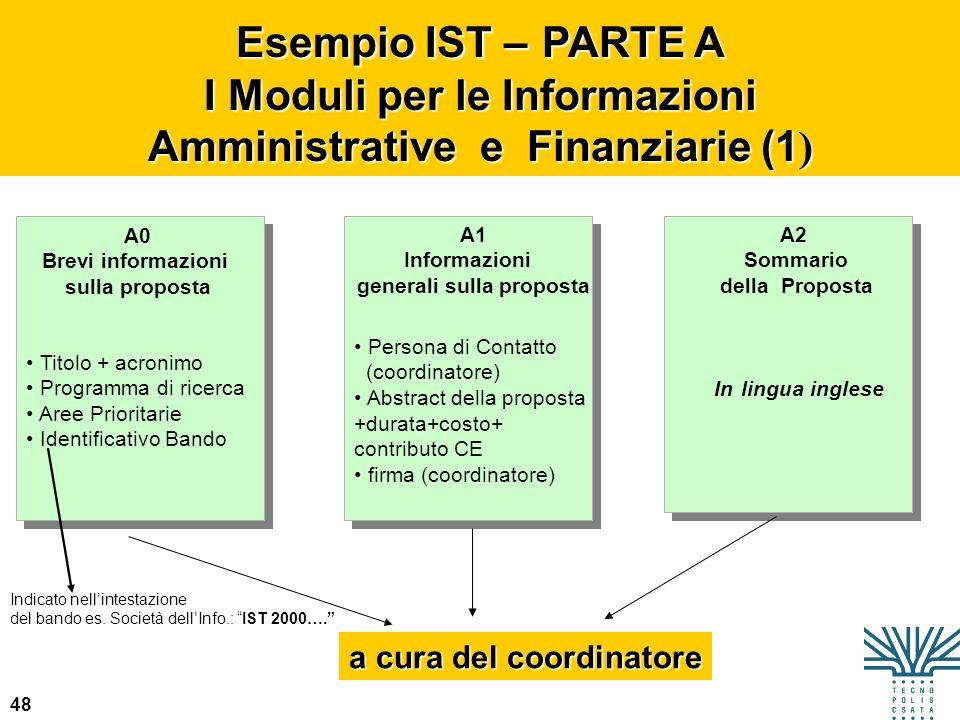 I Moduli per le Informazioni Amministrative e Finanziarie (1)