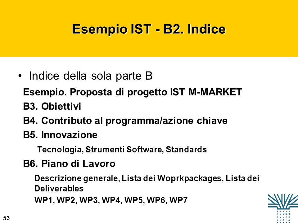 Esempio IST - B2. Indice Indice della sola parte B