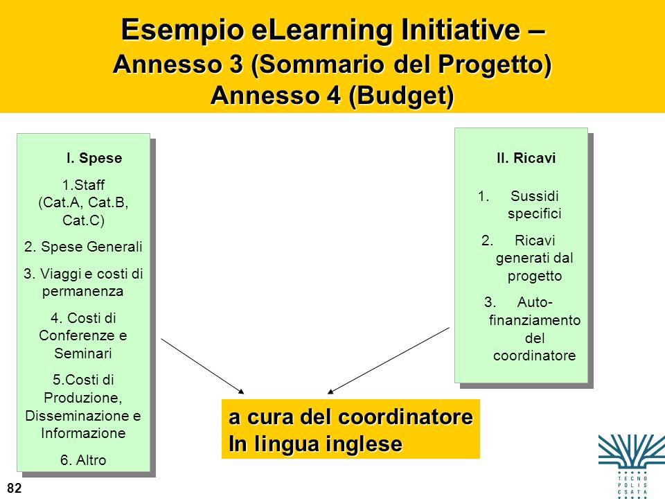 Esempio eLearning Initiative – Annesso 3 (Sommario del Progetto)